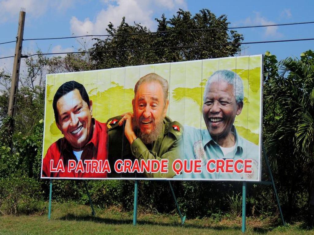 mural-revolucionario-cuba-venezuela-y-Sudáfrica