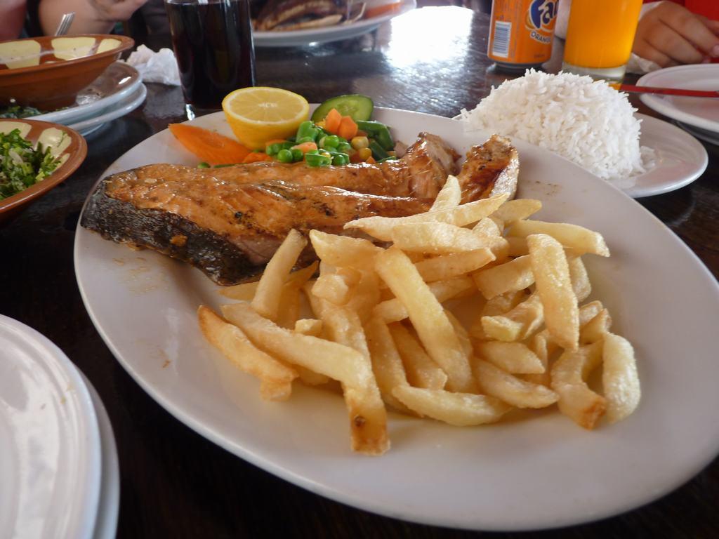 Comida Dubai salmon