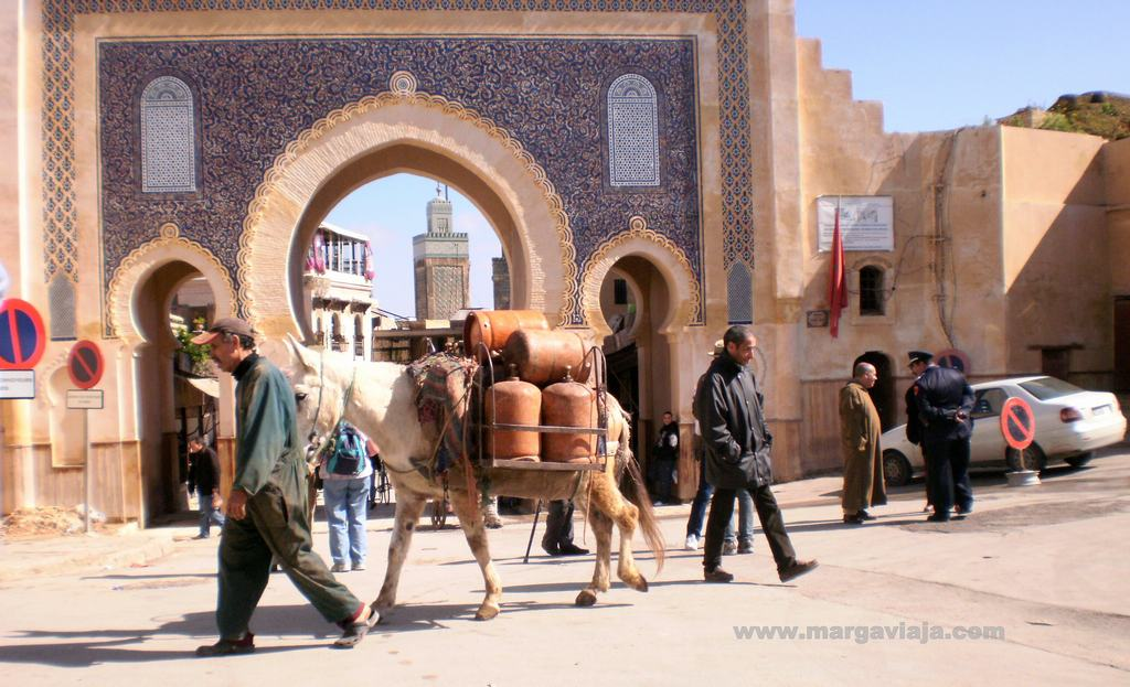 Puerta azul Fez Marruecos
