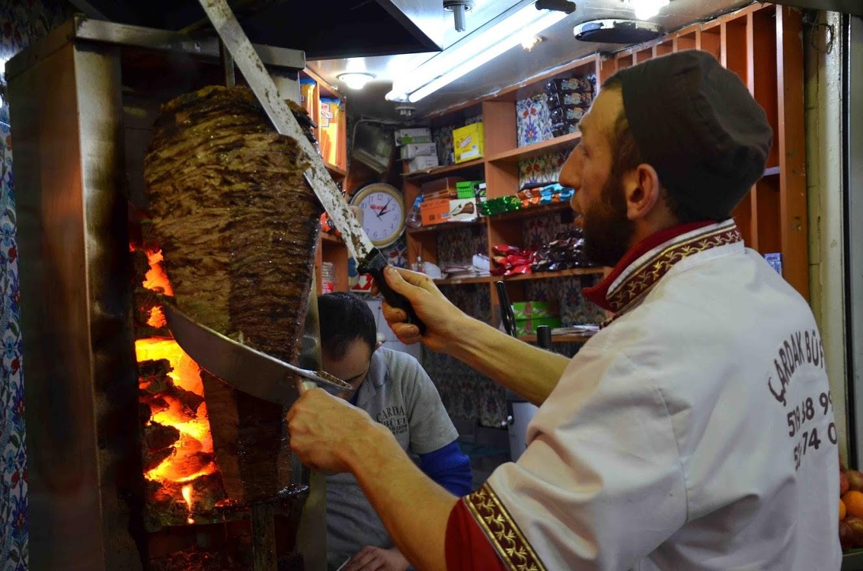 kebab a la leña