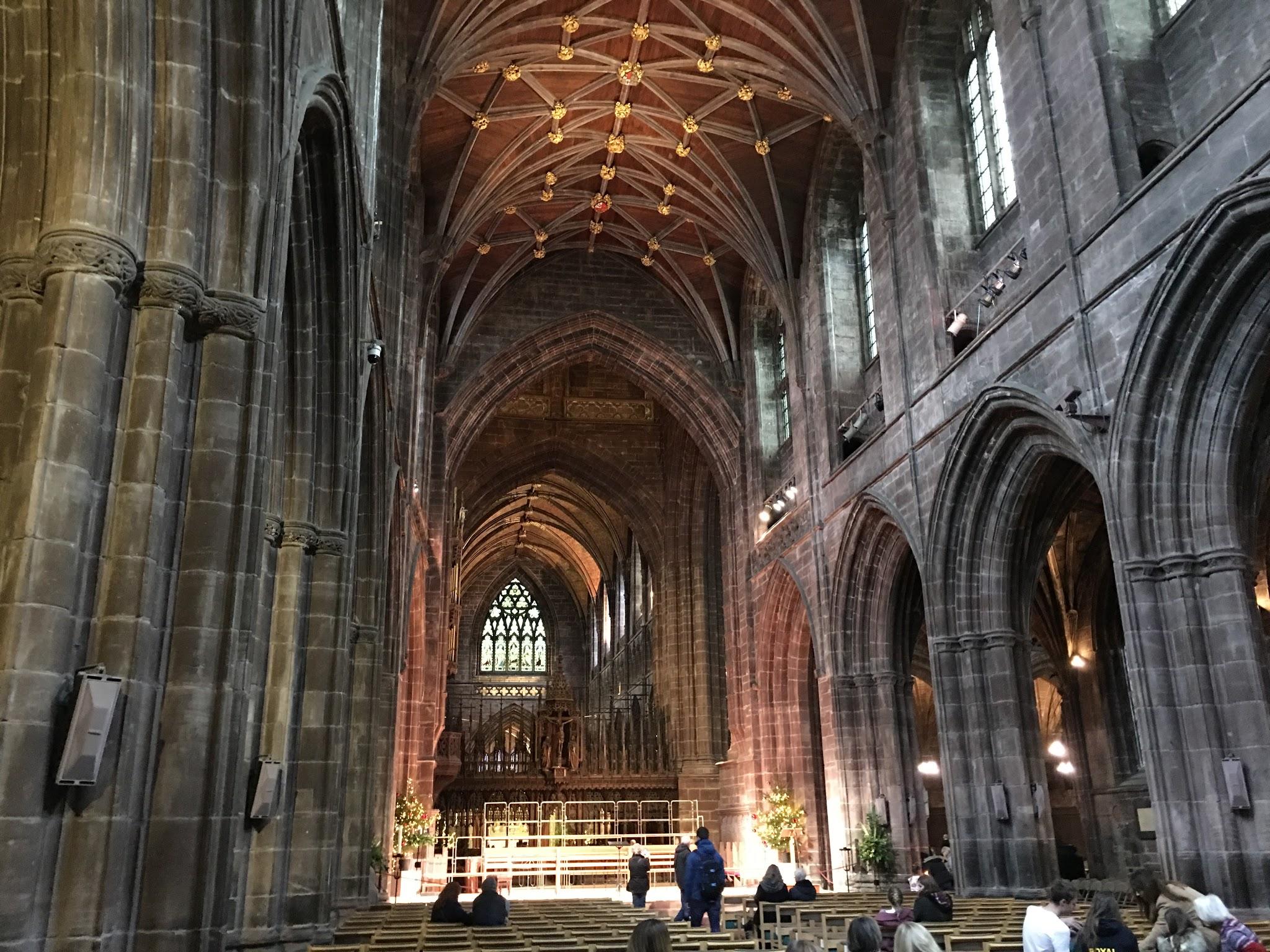 Catedral normanda de Chester en las Midlands de Inglaterra